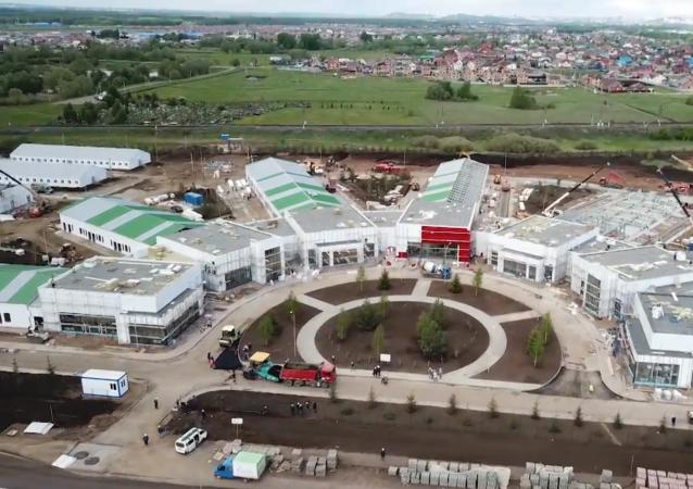 俄罗斯乌法临时传染病医院即将竣工