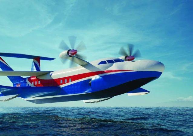 """俄罗斯""""海鸥-2""""地效飞行器"""