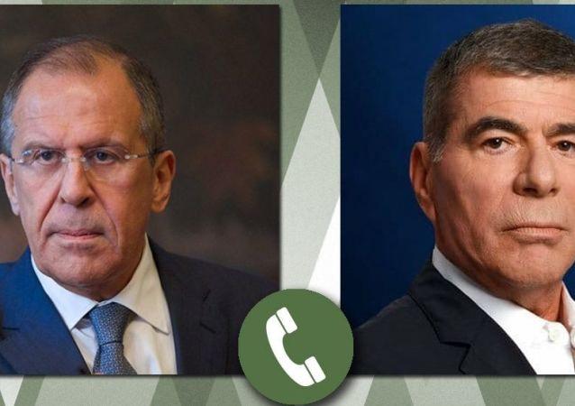 俄罗斯外长拉夫罗夫与以色列外长阿什肯纳齐