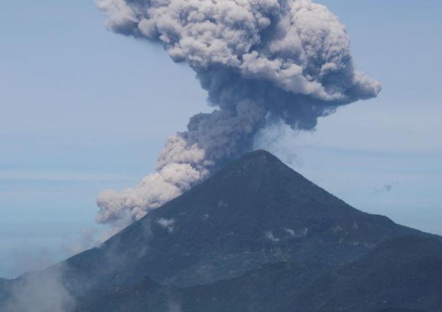 危地马拉帕卡亚火山进入高度活跃期