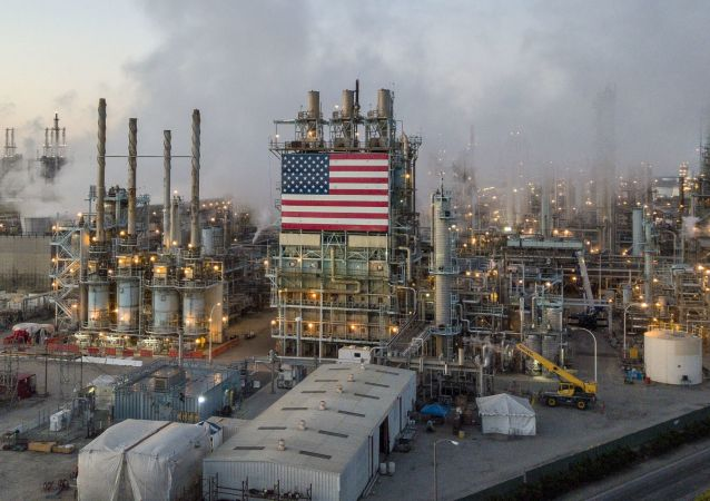 石油加工厂在洛杉矶