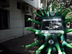 印度抗疫机器人