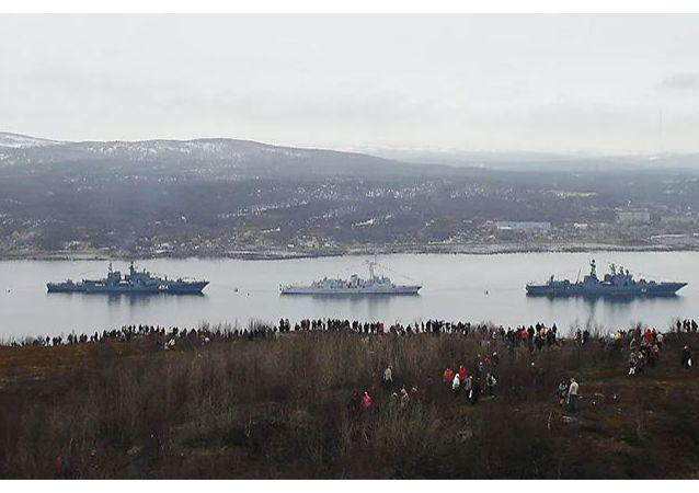 俄北方舰队北极舰艇集群启动第9次北方海路航行