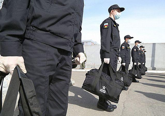 俄北方舰队春季征兵按计划进行