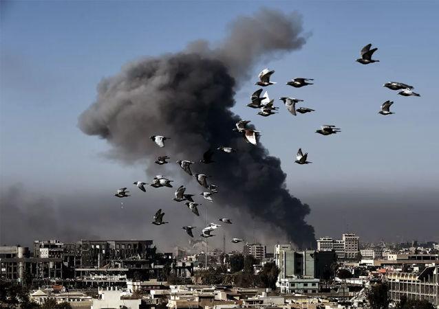 伊拉克摧毁据信伊斯兰国头目使用的据点