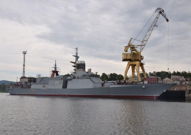 """俄最新型护卫舰""""俄联邦英雄阿尔达尔∙齐坚扎波夫""""号"""