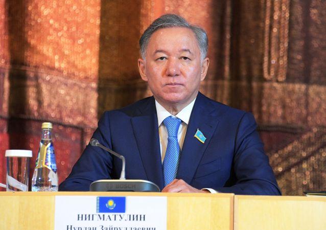 哈萨克斯坦马吉利斯(议会下院)议长尼格玛图林