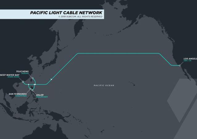 俄媒:美国反对在洛杉矶与香港间铺海底电缆