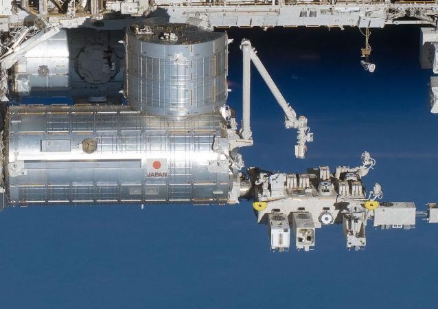 """国际空间站的日本""""希望""""号舱移(实验舱)"""