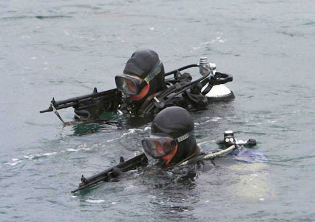 俄太平洋舰队水下破坏部队对堪察加驻地区域进行例行检查